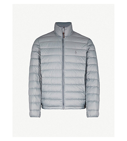 POLO RALPH LAUREN Quilted padded shell jacket (Perfect+grey