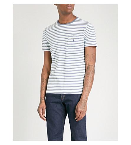 POLO RALPH LAUREN Striped cotton-jersey T-shirt (Bayside+green+multi