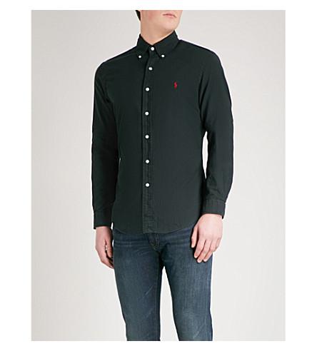 POLO RALPH LAUREN Oxford slim-fit cotton shirt (Polo+black