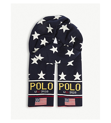 POLO RALPH LAUREN Stadium wool-blend scarf (Multi