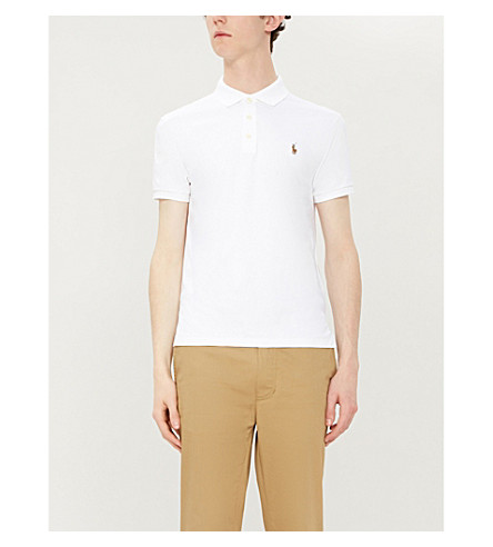 POLO RALPH LAUREN Pima Soft Touch cotton polo shirt (White
