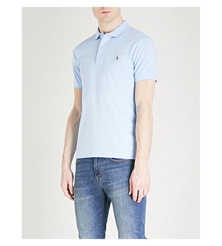 POLO RALPH LAUREN Pima Soft Touch cotton polo shirt (Elite+blue
