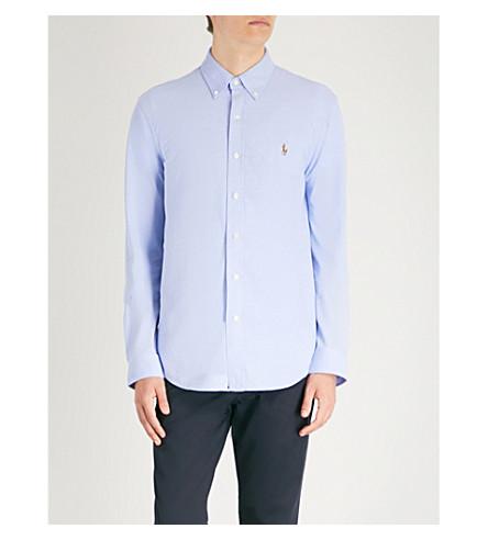 POLO RALPH LAUREN 刺绣标志棉衬衫 (海港 + 海岛 + 蓝色