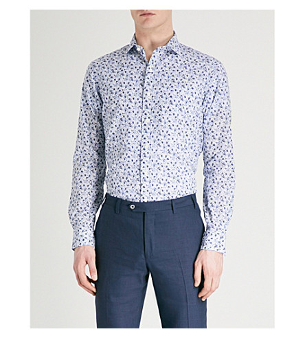 POLO RALPH LAUREN Floral-print regular-fit cotton shirt (2562+vine+floral