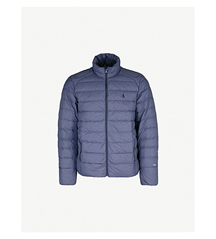 POLO RALPH LAUREN Stand-collar shell jacket (Worth+navy+heather