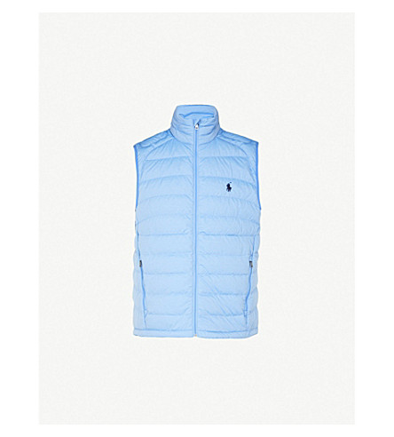 POLO RALPH LAUREN Padded shell gilet (Soft+royal+heather