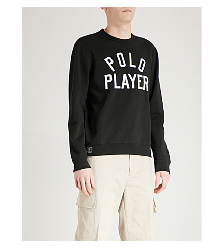 POLO RALPH LAUREN Polo Player jersey sweatshirt (Polo+black