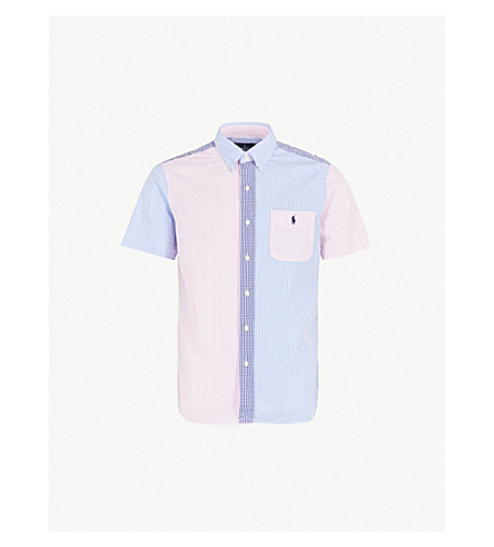 POLO RALPH LAUREN Fun patterned custom-fit cotton seersucker shirt (2608+funshirt