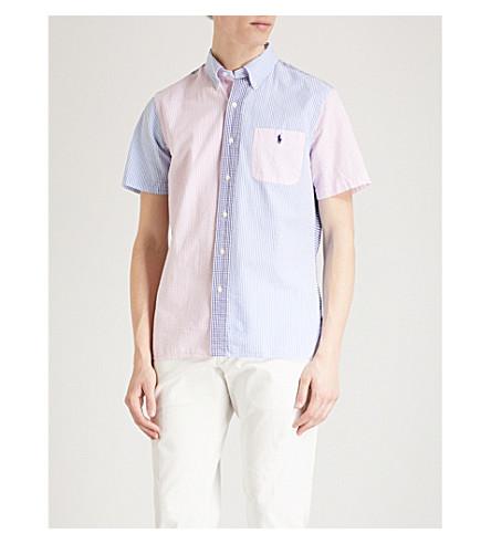 POLO RALPH LAUREN Fun patterned custom-fit cotton seersucker shirt (2608+funshirt