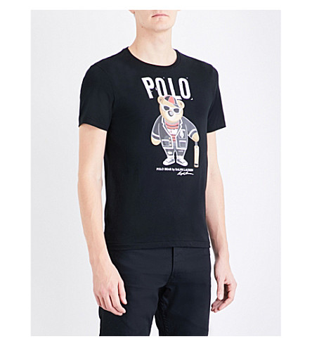 POLO RALPH LAUREN Polo bear cotton-jersey T-shirt (Polo+black
