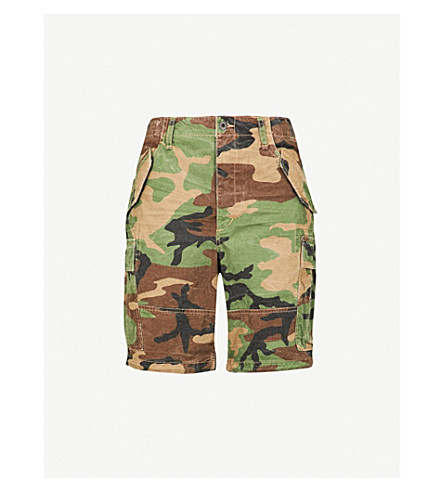 POLO RALPH LAUREN Camouflage-print cotton shorts (Surplus+camo