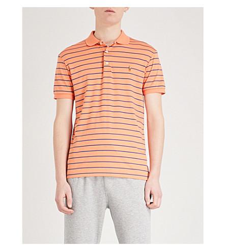 POLO RALPH LAUREN Striped cotton polo shirt (Beach+orange/haven+blue