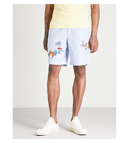 POLO RALPH LAUREN Newport relaxed-fit cotton shorts (Bsr+blue+w/+ao+emb