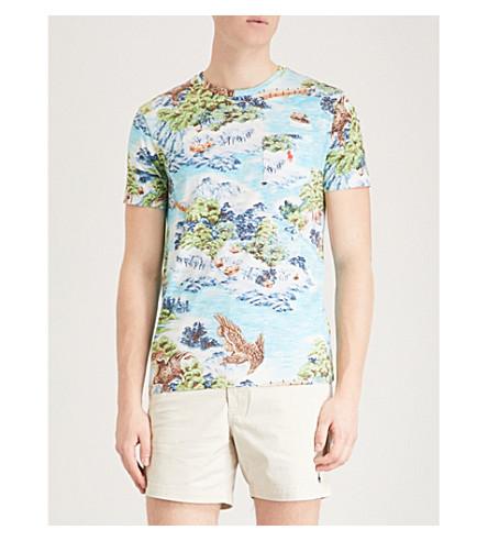 POLO RALPH LAUREN Hawaiian-print cotton-jersey T-shirt (Landscape+hawaiian