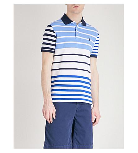 POLO RALPH LAUREN Striped cotton-piqué polo shirt (Harbor+island+blue+multi