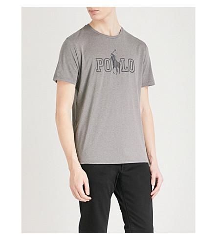 POLO RALPH LAUREN Polo Ralph Lauren logo T-shirt (Foster+grey+heather