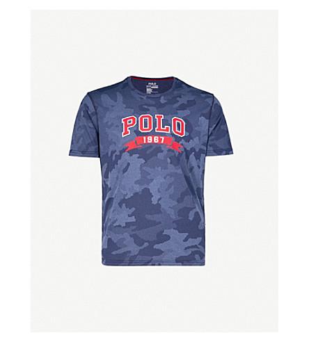 POLO RALPH LAUREN Camouflage-print jersey T-shirt (Navy+hex+camo