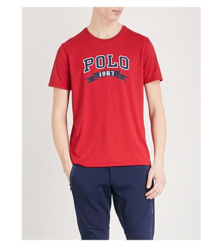 POLO RALPH LAUREN Logo-print jersey T-shirt (Ralph+red