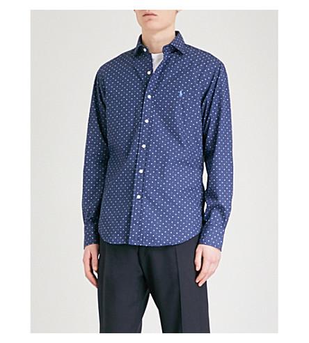 POLO RALPH LAUREN Geometric-print cotton shirt (2552+shadow+geometric