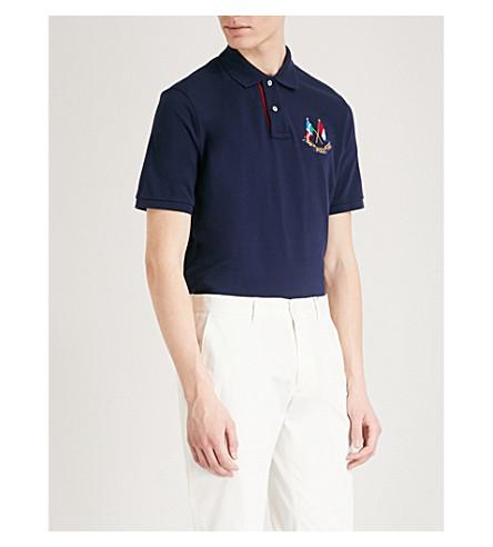 POLO RALPH LAUREN Cross Flags cotton-piqué polo shirt (Cruise+navy