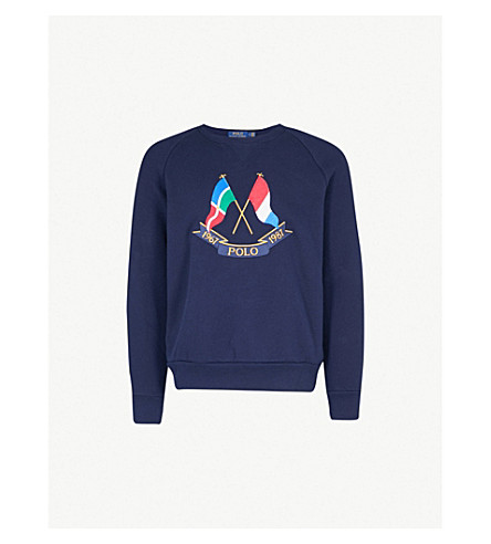 d2ae67399 POLO RALPH LAUREN - Cross Flags cotton-jersey sweatshirt ...