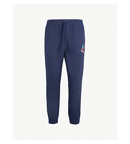 POLO RALPH LAUREN Cross Flags skinny stretch-cotton jogging bottoms (Cruise+navy