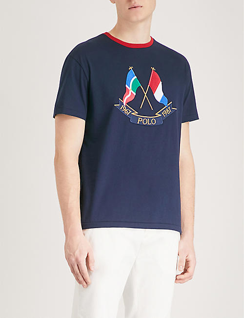 POLO RALPH LAUREN Cross Flags cotton-jersey T-shirt
