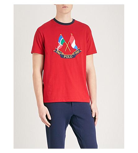 POLO RALPH LAUREN Cross Flags cotton-jersey T-shirt (Ralph red