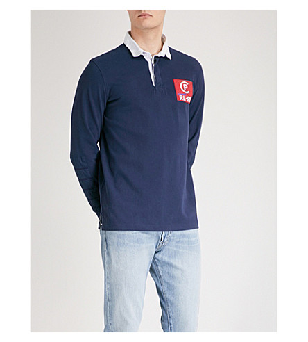 POLO RALPH LAUREN Logo patch cotton rugby shirt (Cruise navy