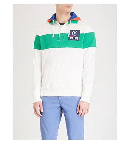POLO RALPH LAUREN CP-93 striped cotton-jersey hoody Deckwash white multi Discount Pay With Paypal Pre Order Cheap Online Wide Range Of Cheap Online Purchase Sale Online Marketable Online k6ylqBKyac
