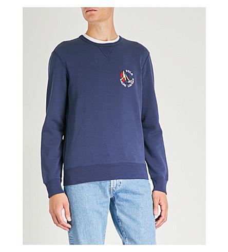 jersey bordado de de con Jersey RALPH algodón logo Cruise navy LAUREN POLO qwHfUf