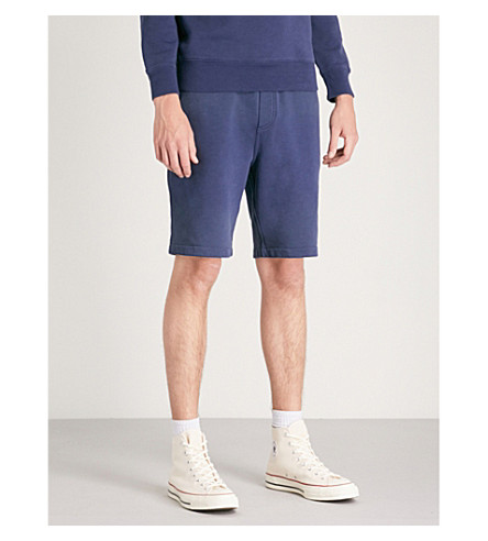 POLO RALPH LAUREN Sailboat-embroidery cotton-jersey shorts (Cruise+navy