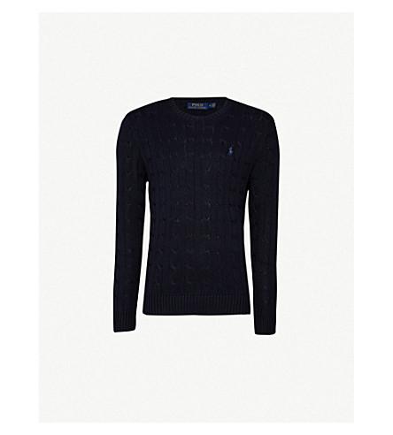 66a93adb4 POLO RALPH LAUREN Cable-knit cotton jumper (Hunter+navy