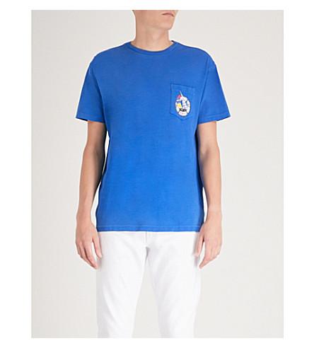POLO RALPH LAUREN Logo-print cotton-jersey T-shirt (Cruise+royal