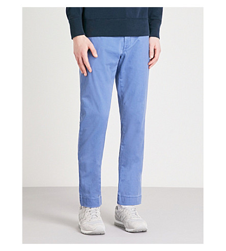 POLO RALPH LAUREN Bedford slim-fit tapered stretch-cotton chinos (Haven+blue