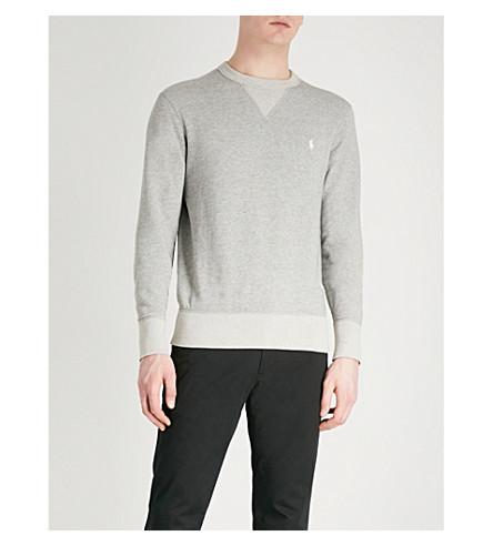POLO RALPH LAUREN Double-knit jersey sweatshirt (Andover+heather