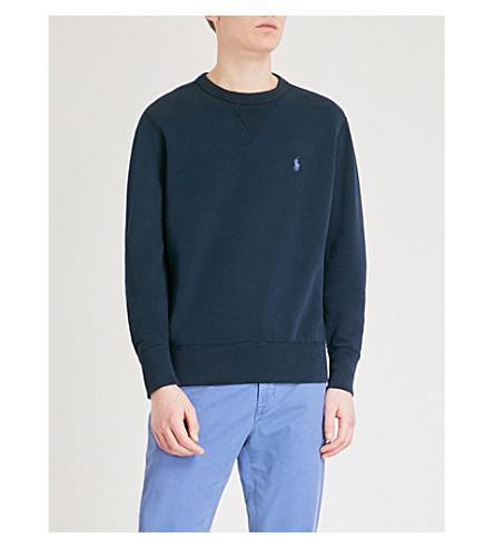POLO RALPH LAUREN Double-knit jersey sweatshirt (Aviator+navy