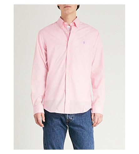 POLO bordada Camisa con RALPH de LAUREN Carmel rosa logo fit algodón slim 404wrxH