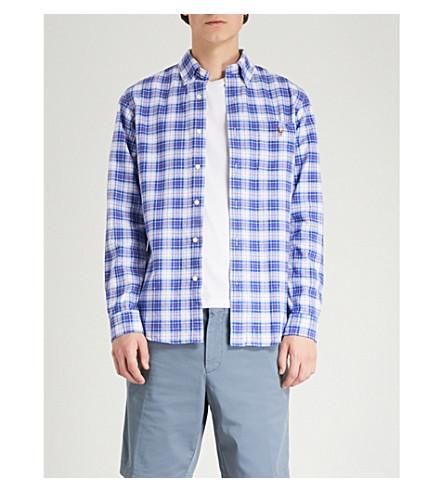 azul salmón de algodón Camisa RALPH fit cuadros Oxford 2405 POLO LAUREN multi slim a qxSpHPww