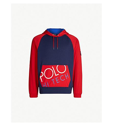 POLO RALPH LAUREN 高科技棉帽衫 (纽波特 + 海军/体育 + 红色