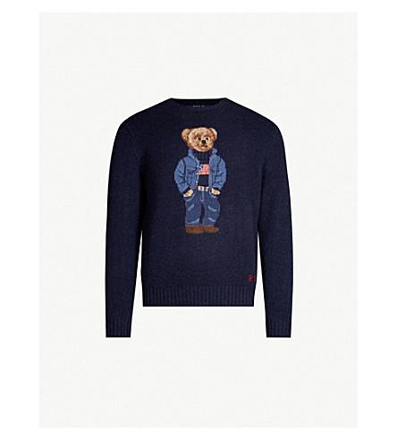 Polo Ralph Lauren Teddy Bear Intarsia Knit Wool Jumper