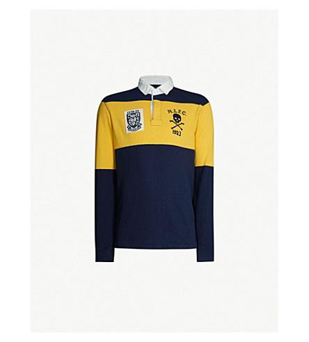 POLO RALPH LAUREN 橄榄球启发针织 Polo 衫 (巡航 + 海军/+ 黄金 + 号角