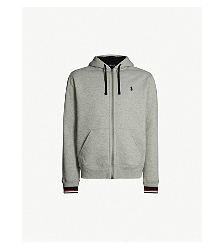 8e8be0f42 POLO RALPH LAUREN Contrast-trim sherpa-lined cotton hoody (Andover+heather