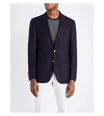 POLO RALPH LAUREN Notch-lapel doeskin wool jacket (Navy+795