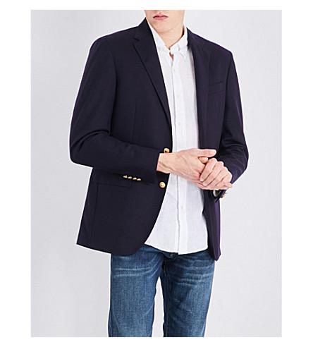 POLO RALPH LAUREN Notch-lapel doeskin wool jacket (Navy
