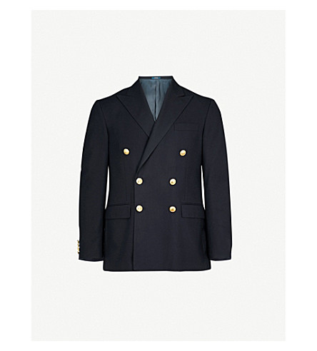 POLO RALPH LAUREN Double-breasted wool jacket (Navy