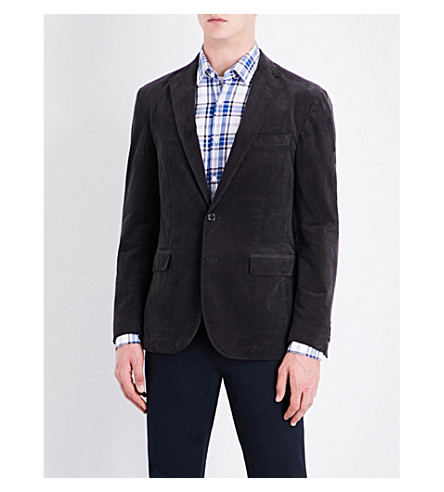 POLO RALPH LAUREN Morgan slim-fit corduroy cotton-blend jacket (Charcoal