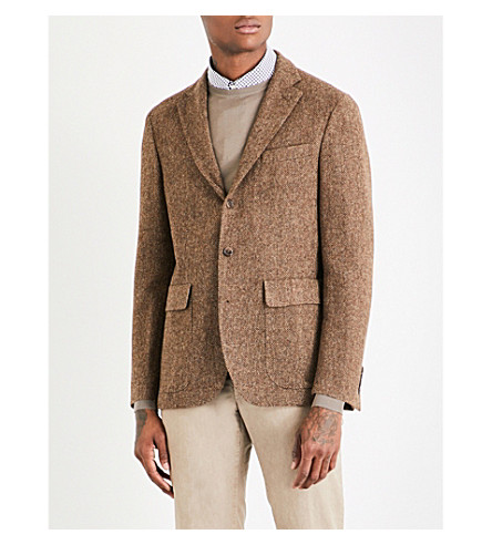 POLO RALPH LAUREN Morgan wool blazer (Brown+and+tan