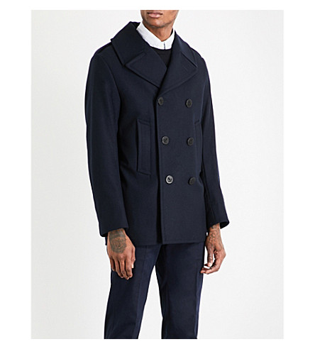 POLO RALPH LAUREN Double-breasted wool peacoat (Navy