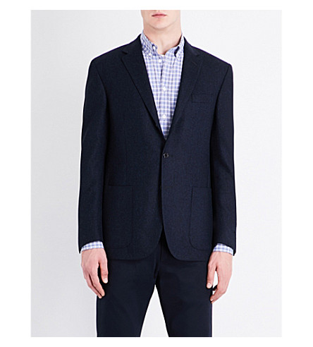 POLO RALPH LAUREN Hopsack-weave custom-fit wool jacket (Navy